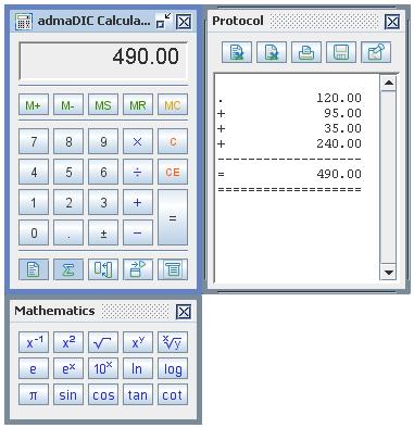 admaDIC : Calculator